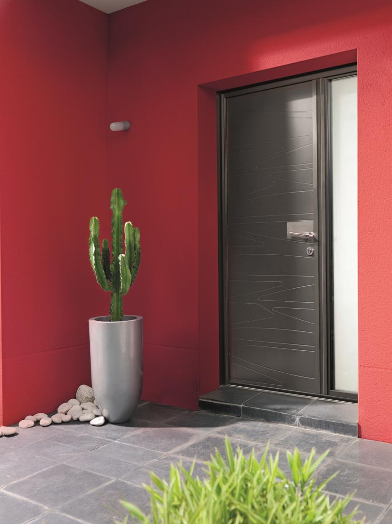 porte d 39 entr e alu k line alsace franche comt lin a. Black Bedroom Furniture Sets. Home Design Ideas