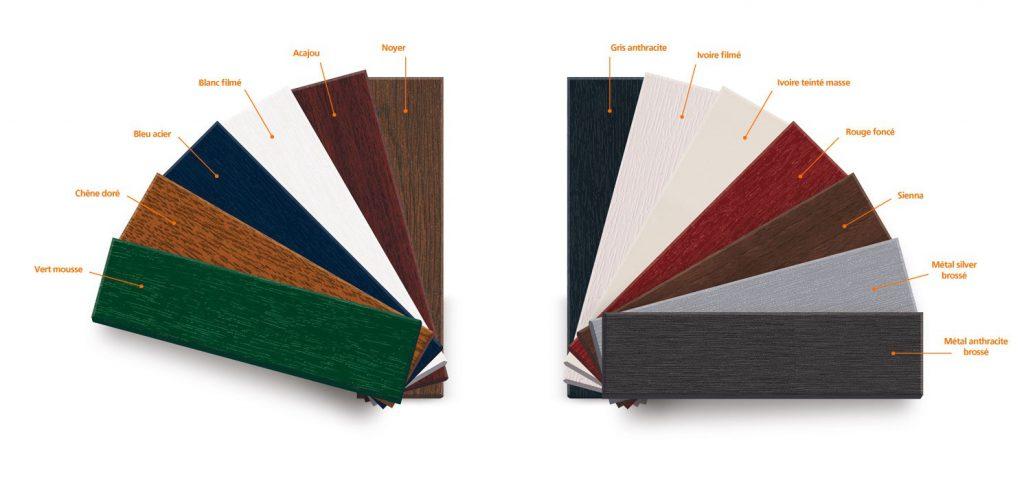 Nuancier coloris fenêtre PVC Linéa