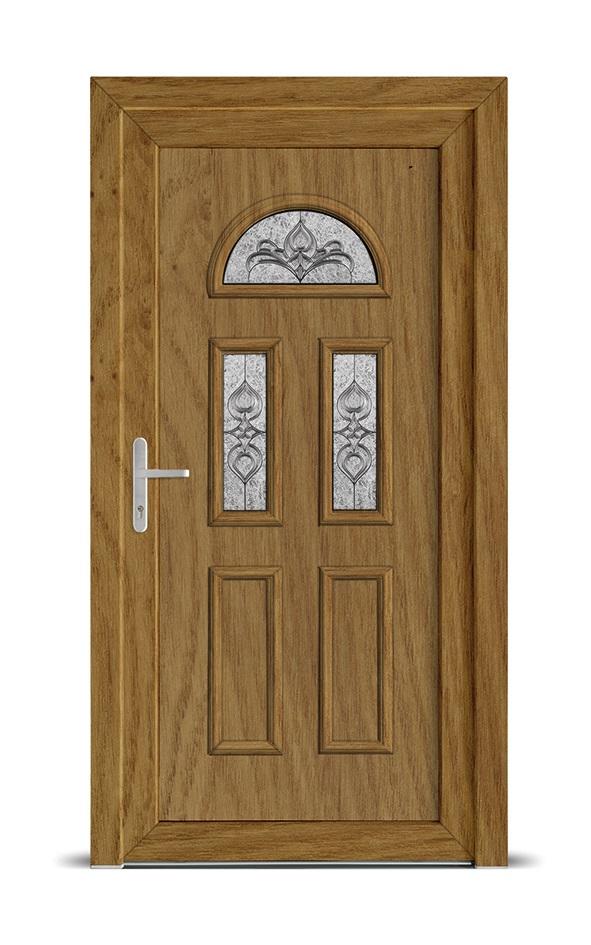 Porte d 39 entr e pvc serrure multipoints alsace franche - Serrure porte d entree ...