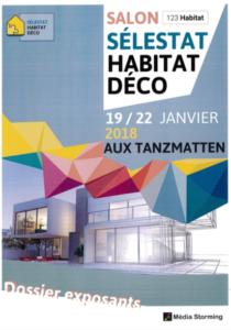 Visuel du salon Habitat Déco de Sélestat du 19 au 22 janvier 2018.