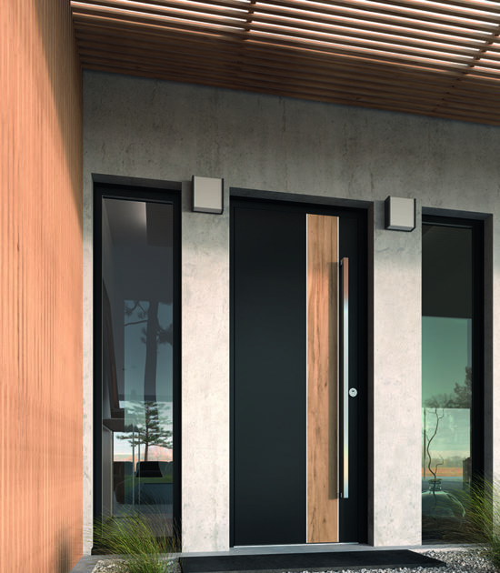 Portes d'entrée Aluminium Linéa